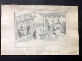 L'Univers C1850 Antique Print. Emperor Tai-Tsoung in Palace, China 60